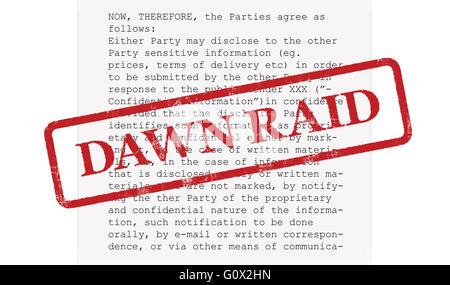 Competition Dawn Raid Concept - Stock Image