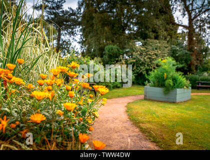 Bailey Park and Sensory Garden in Abergavenny, Monmouthshire, Wales - Stock Image
