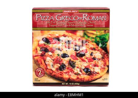 Trader Joe's Frozen Prepared Pizza Greco-Roman - Stock Image