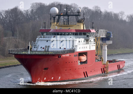 Offshore Support Vessel Polar Queen - Stock Image