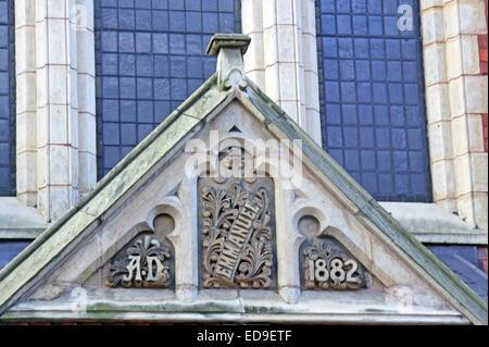 Emmanuel Church Hall AD 1882 Bold St Warrington, Cheshire, England, UK - Stock Image