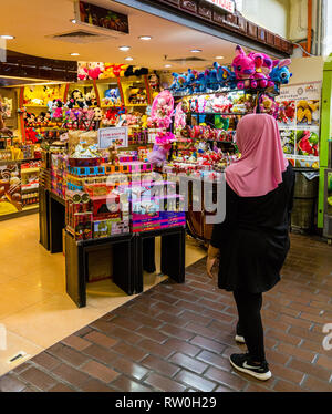 Central Market, Chocolates, Cookies, and Stuffed Animals for Sale, Kuala Lumpur, Malaysia. - Stock Image