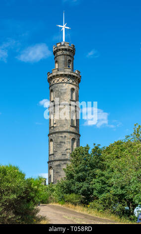 The Nelson Monument, Calton Hill, Edinburgh, Scotland, UK - Stock Image