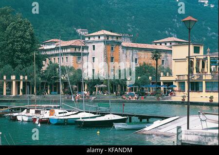 Trentino Riva Del Garda Rocca - Stock Image