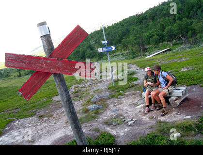 Two voman hiking - Stock Image