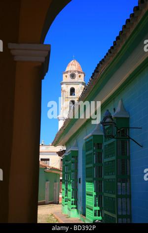 Cuba Trinidad Antiguo Convento de San Francisco de Asis and colonial architecture Photo CUBA1465 Copyright Christopher - Stock Image