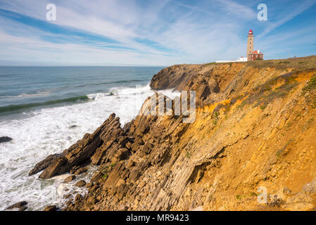 Lighthouse at Atlantic coast in Portugal - Stock Image