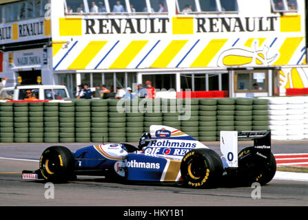 1994 Damon Hill GB Williams FW16 Magny-Cours French GP 2nd FL - Stock Image