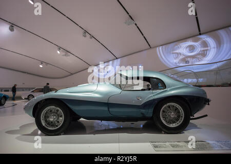Ferrari 212 Export Fontana 'Uovo', 1951; 1950s one-off coachwork Italian sports car, one of most expensive Ferraris, sold for £ 4.5 million in 2017 - Stock Image