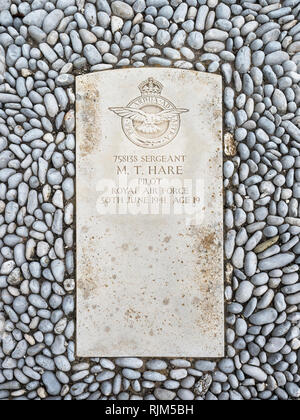 Pilots Grave Town cemetery Gibraltar - Stock Image