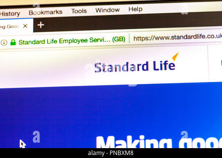 Standard Life logo, Standard Life Pensions and Savings, Standard Life website, Standard Life pension company, Standard Life homepage, pension, online - Stock Image