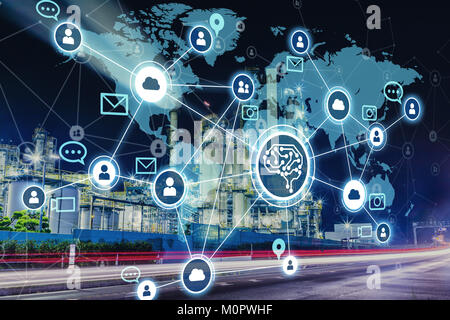 AI(Artificial Intelligence) and industry. - Stock Image