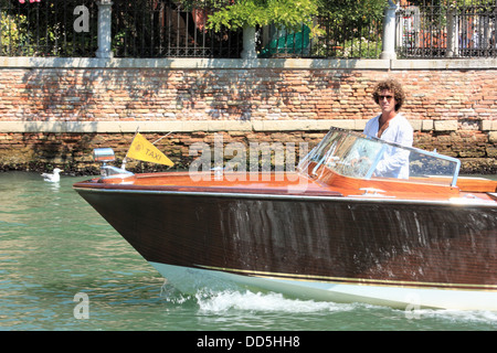Venice water taxi - Stock Image