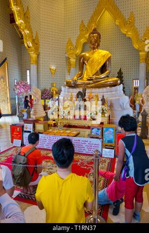 The Golden Buddha, Wat Traimit, Bangkok, Thailand - Stock Image