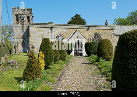 All Saints Church, Thwing, East Yorkshire, England UK - Stock Image