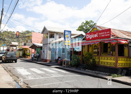 Shops in St Lucia, The Caribbean - Stock Image