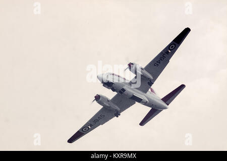 Royal Air Force Vickers Varsity T1 WJ945 in colours of 6 Flight Training School, Cranwell, at Shuttleworth Collection - Stock Image