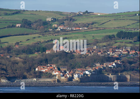 The village of Robin Hoods Bay on the North Yorkshire Coast - Stock Image
