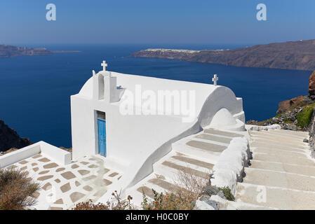 Church Agios Ioannis Katiforis in Imerovigli - Stock Image