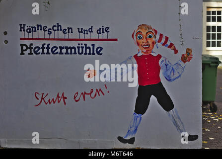 Werbung / Advertisment for Hänneschen Theatre, Cologne, Germany - Stock Image