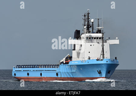 Offshore supply vessel Blue Betria - Stock Image