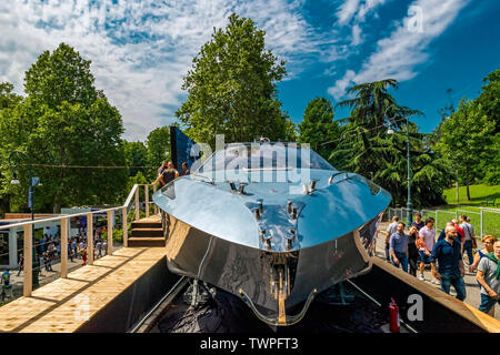 Turin, Piedmont, Italy. 22nd June 2019.Italy Piedmont Turini Valentino park Auto Show 2019 - Nadir Yacht Credit: Realy Easy Star/Alamy Live News - Stock Image