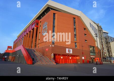 Anfield, Home Of Liverpool FC. - Stock Image
