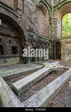 Kelso Abbey Scottish Borders UK - tomb of the 7th Duke of Roxburghe - Stock Image