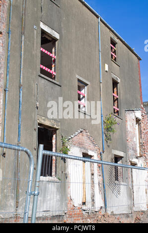 Derelict Buildings Being Demolished Barrow in Furness UK - Stock Image
