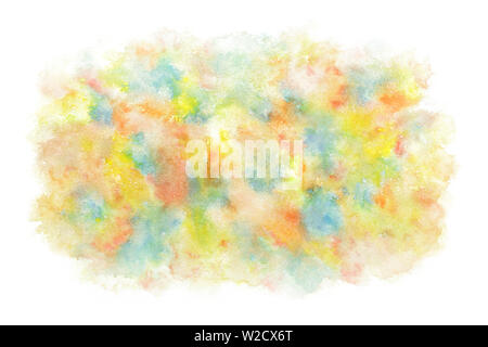 Multi colored paint abstract or natural vintage watercolor texture background - Stock Image