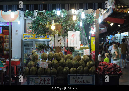 Fresh Durian for sale in Chinatown, Singapore - Stock Image