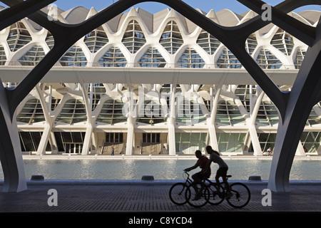 Príncipe Felipe Science Museum City of sciences and arts by architect Santiago Calatrava  - Stock Image