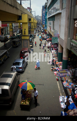 An overview of the Binondo district of Manila, Philippines. - Stock Image