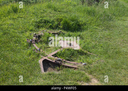 Remains of a german Gun near Omaha Beach - Stock Image