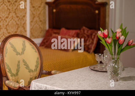 TitanicTitanic- Reconstruction of a first class cabin - Stock Image
