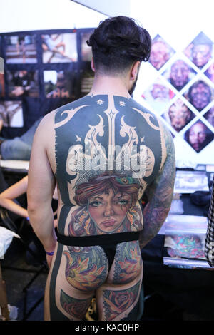 The International London Tattoo Convention 2017, Tobacco Dock, London, UK. - Stock Image
