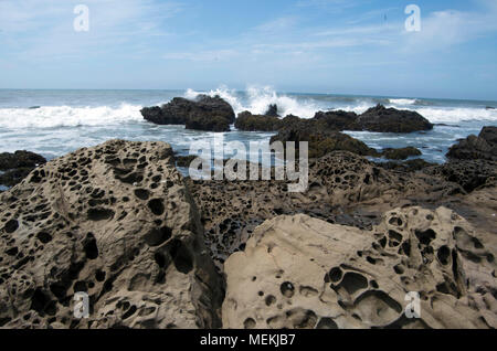The coastline near Cambria, CA, is a beautiful sight. - Stock Image