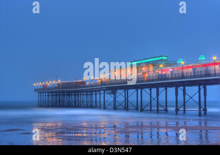 Paignton Pier in the twilight - Stock Image