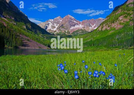 Maroon Bells Aspen Colorado - Stock Image