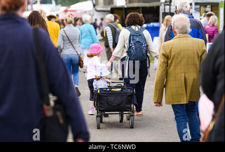 Ardingly Sussex UK 6th June 2019 - A good way of getting about on the first day of the South of England Show held at the Ardingly Showground in Sussex. The annual agricultural show highlights the best in British farming and produce and attracts thousands of visitors over three days . Credit : Simon Dack / Alamy Live News - Stock Image