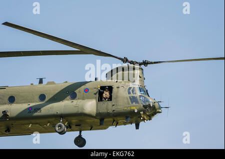 RAF Chinook HC2 at RIAT 2014 - Stock Image
