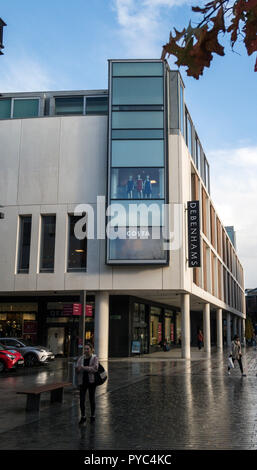 Debenhams department store Exeter. Another retailer closing many branches. - Stock Image