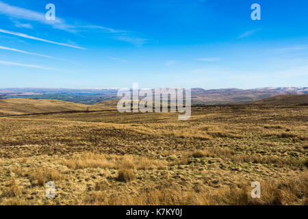 View looking east across the moors around Bretherdale Bank on the eastern edge of the Lake District National Park,  Cumbria. - Stock Image