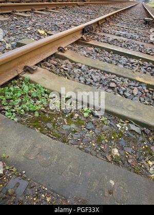Railway Tracks UK Trainlines - Stock Image
