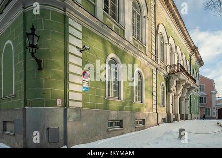 Winter in Tallinn old town. - Stock Image