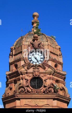 UK, Scotland, Glasgow, Clock Tower, Sauchiehall Street, - Stock Image