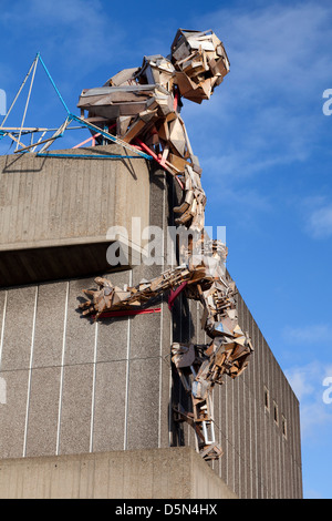 Art installation on top of the Hayward Gallery, London - Stock Image