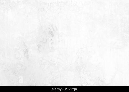 White Grunge Concrete Wall Texture Background. - Stock Image