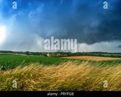 Tornado in Schwechat - Stock Image