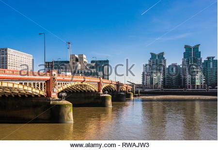 Vauxhall Bridge over the River Thames, London, England, UK - Stock Image